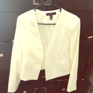 White/pearl blazer